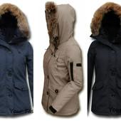 Женская зимняя куртка в стиле парка