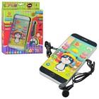 Айфон - детский сенсорный интерактивный 3D-телефон с наушниками 12 функций JD 301. Акция