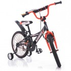 Велосипед двухколёсный детский Азимут Кроссер Azimut Crosser черн с оранж