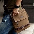 Сумка мужская, стильная, на плечо, ткань, размер - 27х23х9. коричневая. Под заказ!