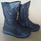 ботинки сапоги для девочки зимние кожа 29