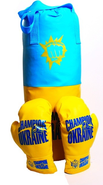 Большая детская боксерская груша с перчатками! с наполнителем! фото №1