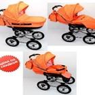 """Коляска детская ANDROX """"Classic"""" - цвет оранжевый"""