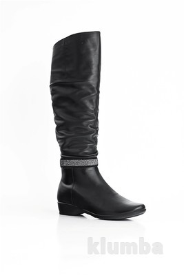 Фото модные кожаные сапоги2012