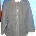 Красивенное пальтишко с рюшами.Кашемировое.Размер 116-122см.