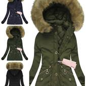 Женская зимняя куртка парка 2 в 1 со съемной подстежкой