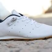 Мужские кроссовки Adidas Адидас белые кожа