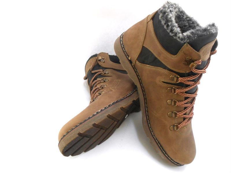Ботинки columbia натур. кожа на меху, черный и оливк, р 41-45, код ka-col3 фото №4