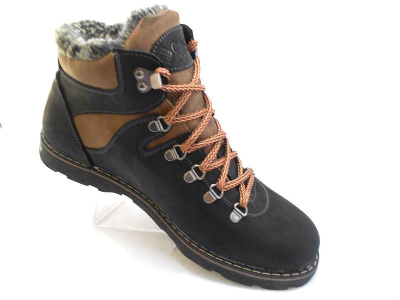 Ботинки columbia натур. кожа на меху, черный и оливк, р 41-45, код ka-col3 фото №6