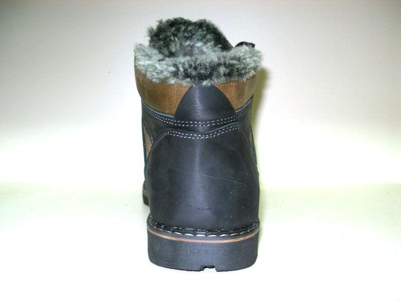 Ботинки columbia натур. кожа на меху, черный и оливк, р 41-45, код ka-col3 фото №7
