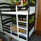 Двухъярусная детская кровать Карина-Люкс из бука(с прямыми борт.), 2ящ, 4 бортика.