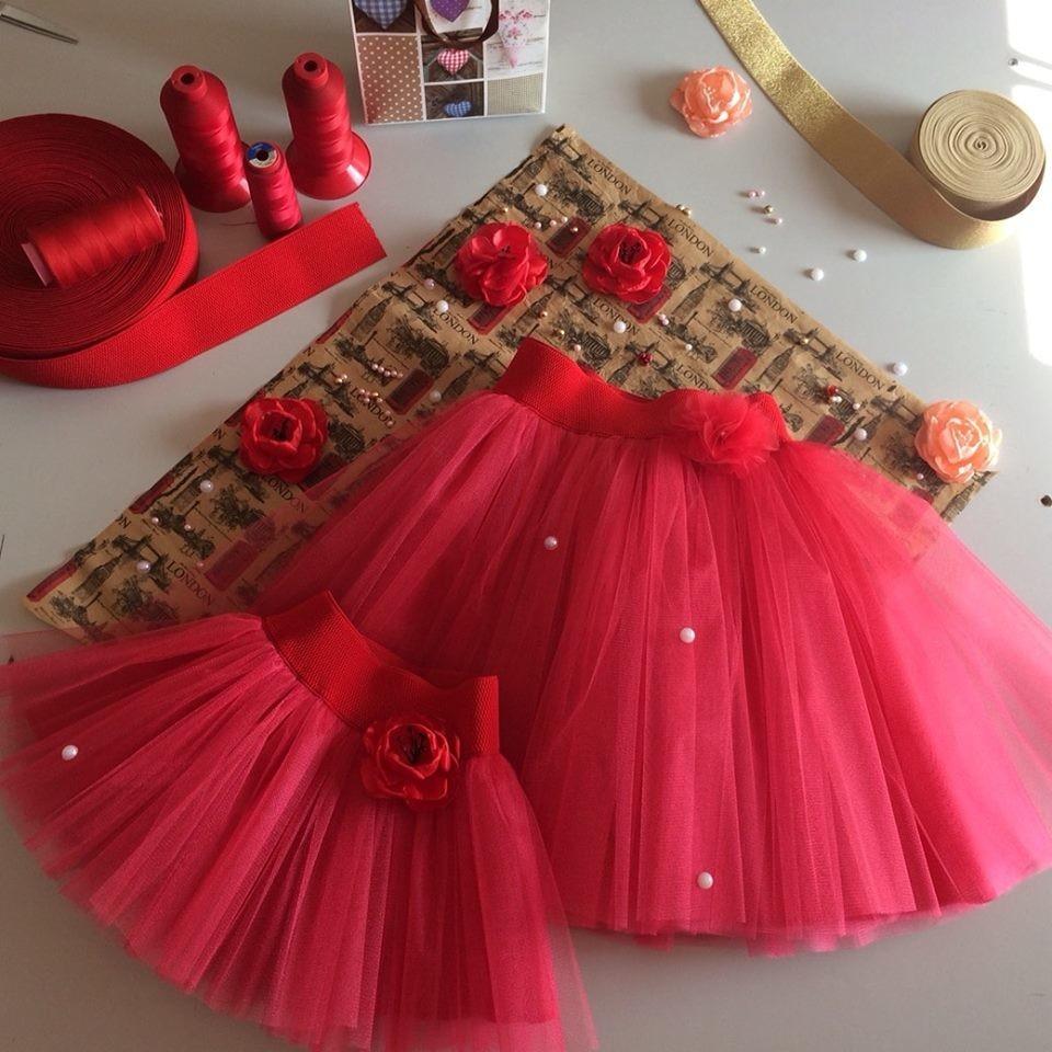 Красная юбка пачка на девочку из фатина. разные модели  фото №1