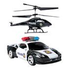 Радиоуправляемый Металлический полицейский набор Машина и Вертолет
