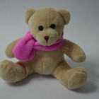 Мишка в розовом шарфике 17см.№25