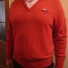 Новый фирменный джемпер Lonsdale Англия голубой и красный цвет М и Л р
