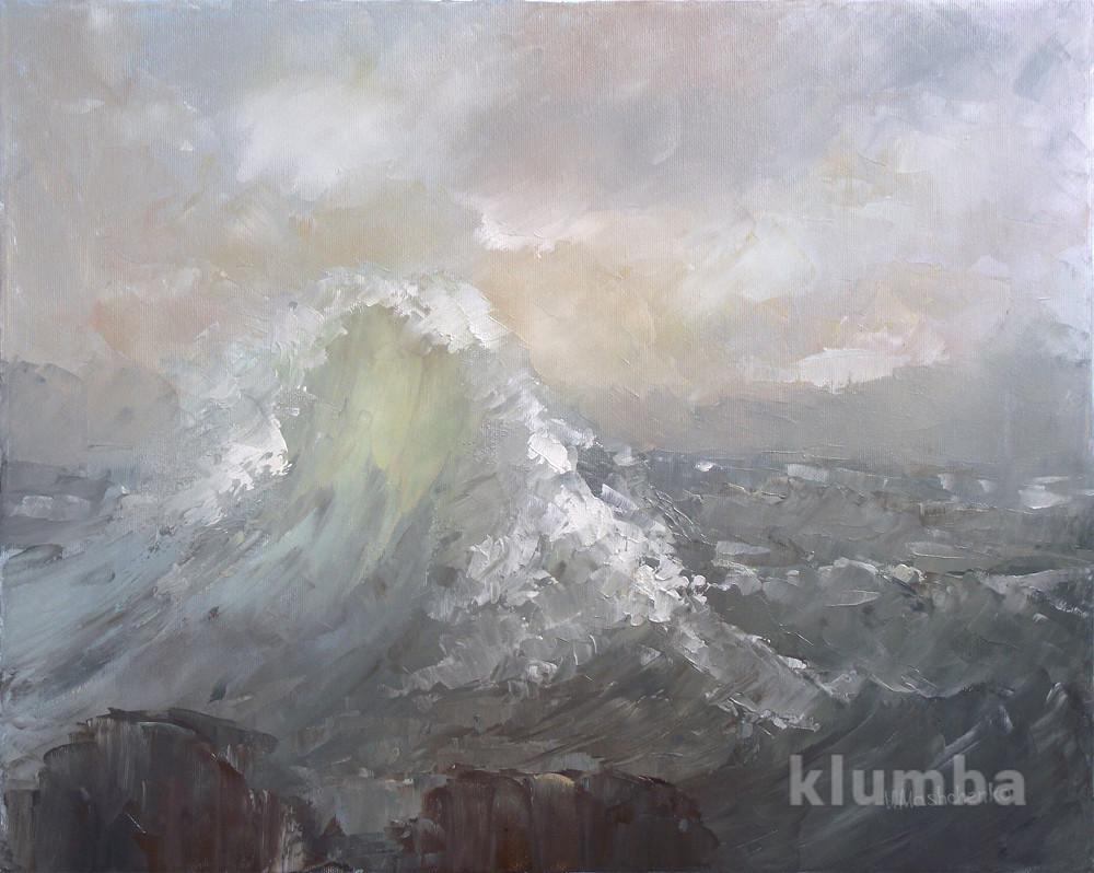 """Картину масло на холсте """" морская волна"""" фото №1"""