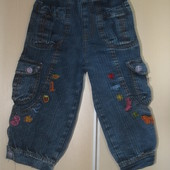 Бриджи джинсовые рост 104 116