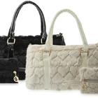 Меховая женская сумка, черная меховая сумка, бежевая меховая сумка ,сумка из меха