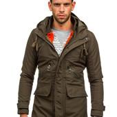Мужская зимняя куртка парка со съемной подстежкой