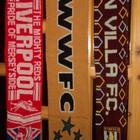 Шарфи фанів .liverpool .fc.Aston Villa.fc.. Wolverhampton .