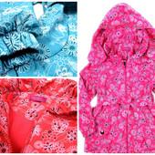 Демисезонная куртка плащ для девочки на флисе