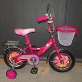 Детский двухколесный велосипед Mustang Princess Принцесса для девочки