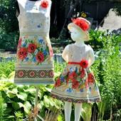 Нарядное  платье Мама + Дочка