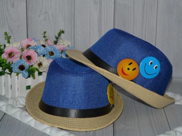 Шляпы на ог 49-53см.,смайлы на булавке,можно снять. фото №1
