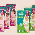 Акция! Трусики Pampers Active Boy, girl pants 4, 5, 6!