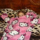 Китти флисовое одеяло с рукавами