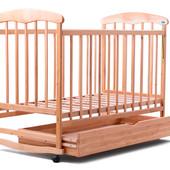 Детская кроватка Наталка с ящиком (светлая и темная)