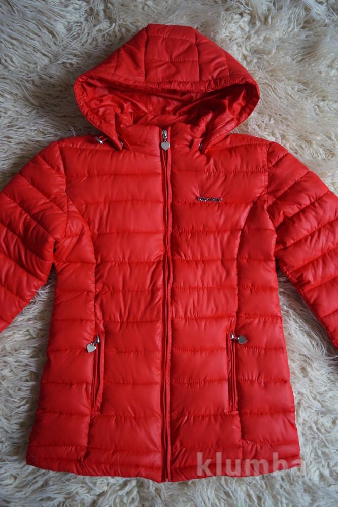 Куртка демисезонная, красная, новая для девочки р. 38-40 фото №1