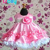 Нарядное платье Афродита розовое код.100-065