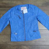 Куртка для девочек из кож-зама 134р.2015-031