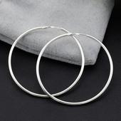 Серьги кольца серебряные сережки Шарнир 2004