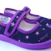 Яркие тапочки для девочки Виталия (размер 31/32 - 20,5 см), код - Дженни