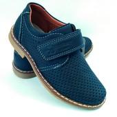 Туфли для мальчика с перфорацией бренда Kellaifeng (Bessky), р. 27-32, код - 162