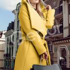 Пальто кашемировое, с капюшоном