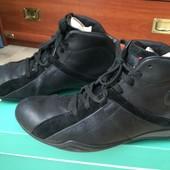 Кожанные демисезонные ботинки Кларкс 42