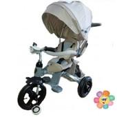 Купить трёхколёсный велосипед-коляска Transformer Modi T500 фара (6 в 1) бежевый (надувное колесо) П