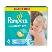 Pampers Active Baby 6 ( 15+ кг ) 66 шт!