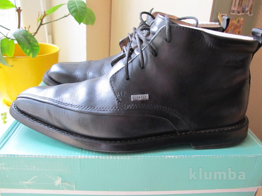 Демисезонные кожаные ботинки Clarks на gore-tex фото №1