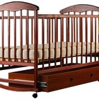 кроватка детская Наталка с ящиком темная