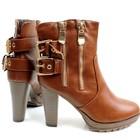 Женские весенние сапожки на устойчивом каблуке
