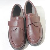 Мужские туфли-кожа, стелька 27. 5 см с утеплением