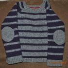 Шерстяной стильный свитерок с модными латками