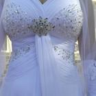 Свадебное платье и туфли 34 р для невысокой девушки