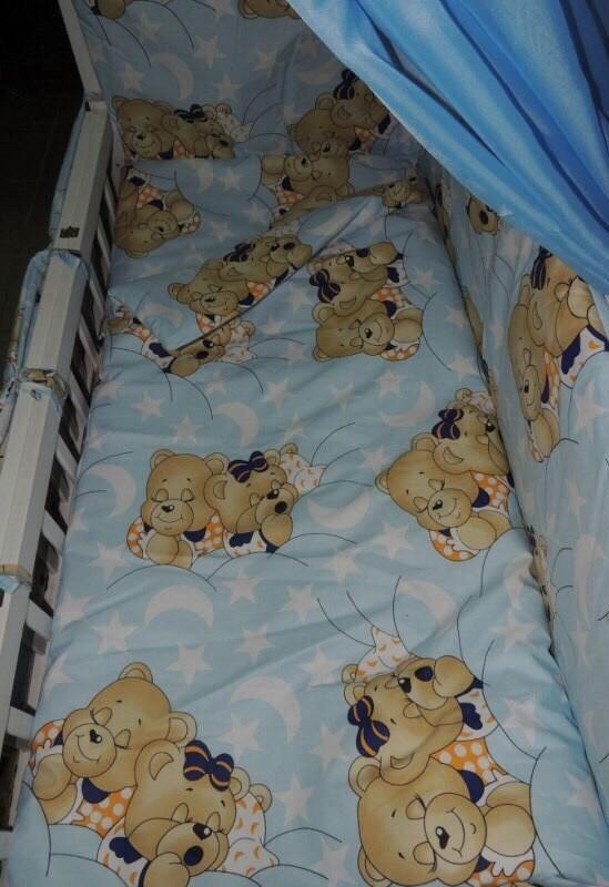 Детское постельное белье для новорожденных, комплект из 9 предметов с балдахином! фото №10