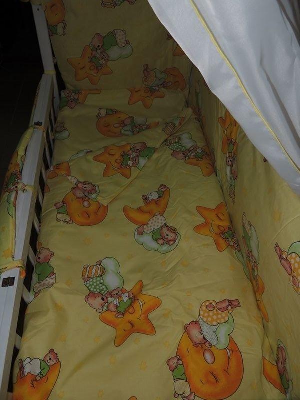 Детское постельное белье для новорожденных, комплект из 9 предметов с балдахином! фото №11