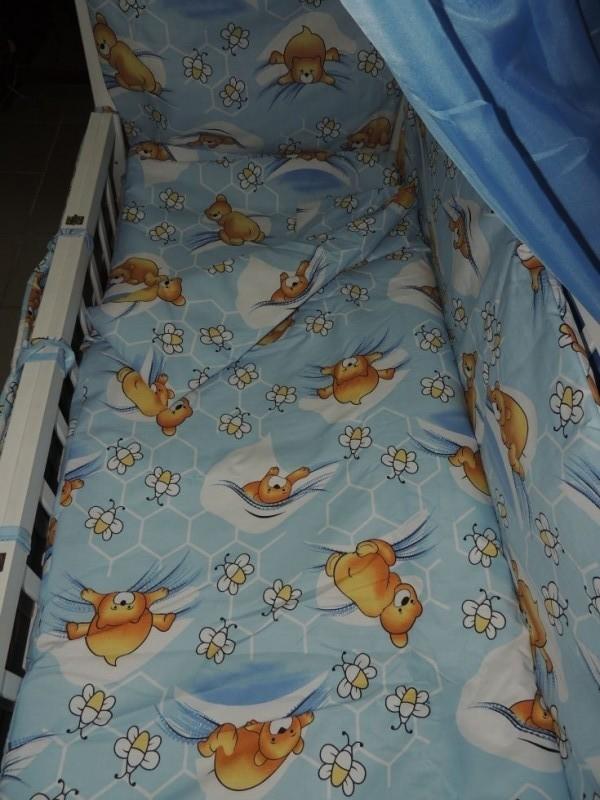 Детское постельное белье для новорожденных, комплект из 9 предметов с балдахином! фото №1
